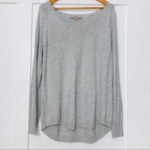 Loft Light Gray Shirttail Sweater